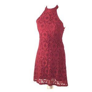 Abercrombie & Fitch Burgundy Lace Dress Size 0